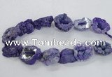 CNG2159 15.5 inches 25*35mm - 35*40mm nuggets druzy agate beads