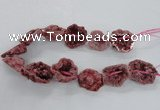 CNG2160 15.5 inches 25*35mm - 35*40mm nuggets druzy agate beads