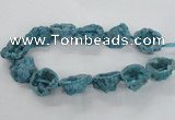 CNG2161 15.5 inches 25*35mm - 35*40mm nuggets druzy agate beads