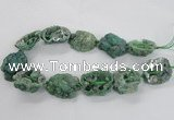 CNG2162 15.5 inches 25*35mm - 35*40mm nuggets druzy agate beads
