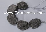 CNG2171 7.5 inches 25*35mm - 35*40mm freeform druzy agate beads