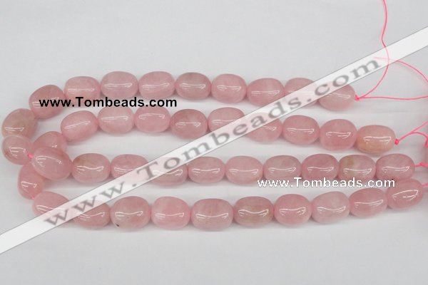 CNG22 15.5 inches 12*17mm nuggets rose quartz gemstone beads