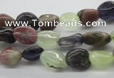 CNG220 15.5 inches 8*10mm nuggets mixed gemstone beads
