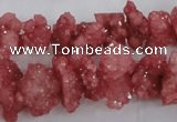 CNG2210 15.5 inches 10*14mm - 13*18mm nuggets plated druzy quartz beads