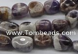 CNG224 15.5 inches 10*12mm nuggets dogtooth amethyst beads