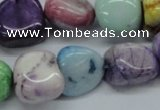 CNG229 15.5 inches 15*20mm nuggets dyed white agate gemstone beads