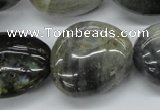 CNG231 15.5 inches 22*30mm nuggets labradorite gemstone beads