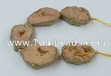 CNG2311 7.5 inches 25*35mm - 35*40mm freeform druzy agate beads