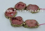 CNG2312 7.5 inches 25*35mm - 35*40mm freeform druzy agate beads