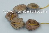 CNG2318 7.5 inches 25*35mm - 35*40mm freeform druzy agate beads