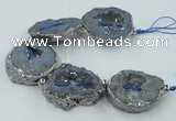CNG2320 7.5 inches 25*35mm - 35*40mm freeform druzy agate beads