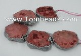 CNG2329 7.5 inches 35*40mm - 45*50mm freeform druzy agate beads