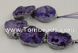 CNG2330 7.5 inches 35*40mm - 45*50mm freeform druzy agate beads