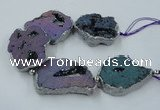 CNG2332 7.5 inches 35*40mm - 45*50mm freeform druzy agate beads