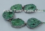 CNG2334 7.5 inches 35*40mm - 45*50mm freeform druzy agate beads