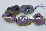 CNG2339 7.5 inches 40*50mm - 55*60mm freeform druzy agate beads