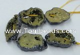 CNG2345 7.5 inches 25*35mm - 35*40mm freeform druzy agate beads