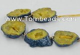 CNG2350 7.5 inches 25*35mm - 35*40mm freeform druzy agate beads