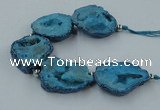 CNG2351 7.5 inches 25*35mm - 35*40mm freeform druzy agate beads