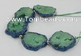 CNG2352 7.5 inches 25*35mm - 35*40mm freeform druzy agate beads