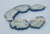 CNG2355 7.5 inches 40*50mm - 55*60mm freeform druzy agate beads