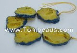 CNG2356 7.5 inches 40*50mm - 55*60mm freeform druzy agate beads