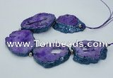 CNG2358 7.5 inches 40*50mm - 55*60mm freeform druzy agate beads