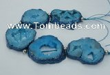 CNG2359 7.5 inches 40*50mm - 55*60mm freeform druzy agate beads