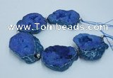 CNG2361 7.5 inches 40*50mm - 55*60mm freeform druzy agate beads