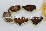 CNG2370 7.5 inches 25*45mm - 30*40mm freeform agate gemstone beads