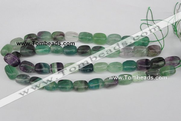 CNG24 15.5 inches 12*17mm nuggets fluorite gemstone beads