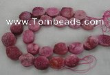CNG2413 15.5 inches 22*28mm - 28*35mm freeform agate beads