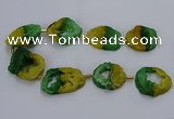 CNG2549 15.5 inches 30*40mm - 45*50mm freeform druzy agate beads