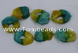 CNG2550 15.5 inches 30*40mm - 45*50mm freeform druzy agate beads