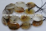 CNG2555 35*50mm - 40*55mm faceted freeform montana agate beads