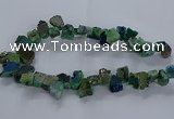 CNG2590 15.5 inches 13*18mm - 15*25mm nuggets plated druzy agate beads