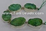 CNG2601 7.5 inches 25*35mm - 30*40mm freeform druzy agate beads