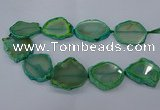 CNG2612 15.5 inches 30*35mm - 40*45mm freeform agate beads