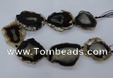CNG2615 15.5 inches 45*50mm - 50*60mm freeform druzy agate beads