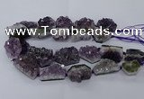 CNG2633 15.5 inches 20*24mm - 25*35mm freeform druzy amethyst beads
