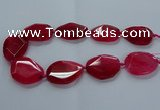 CNG2643 15.5 inches 25*35mm - 30*40mm freeform agate beads