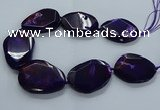CNG2654 15.5 inches 38*48mm - 42*55mm freeform agate beads