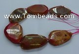 CNG2655 15.5 inches 38*48mm - 42*55mm freeform agate beads