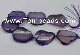 CNG2663 15.5 inches 30*40mm - 40*55mm freeform agate beads