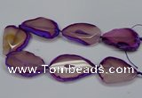 CNG2665 15.5 inches 30*40mm - 40*55mm freeform agate beads