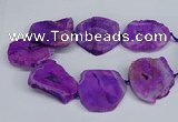 CNG2672 15.5 inches 30*40mm - 40*50mm freeform druzy agate beads