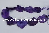 CNG2673 15.5 inches 30*40mm - 40*50mm freeform druzy agate beads