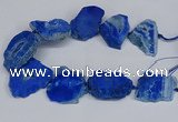 CNG2679 15.5 inches 30*40mm - 40*50mm freeform druzy agate beads