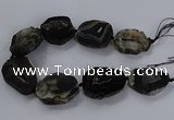 CNG2687 15.5 inches 35*45mm - 40*60mm freeform druzy agate beads