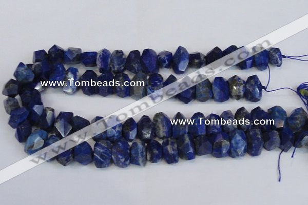 CNG2702 15.5 inches 10*14mm - 13*18mm faceted nuggets lapis lazuli beads